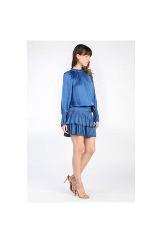 Juliet Pleated Mini Dress