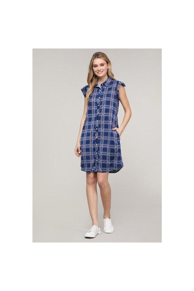 Della Ruffle Shirt Dress
