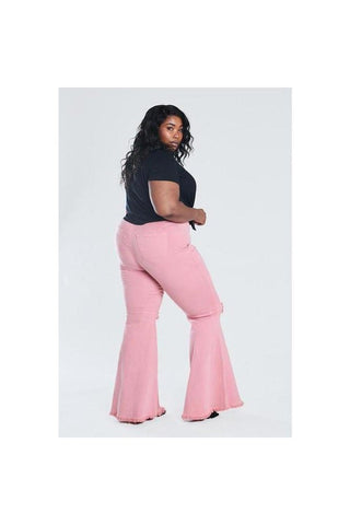 Curvy Blush Knee Hole Bell Bottoms
