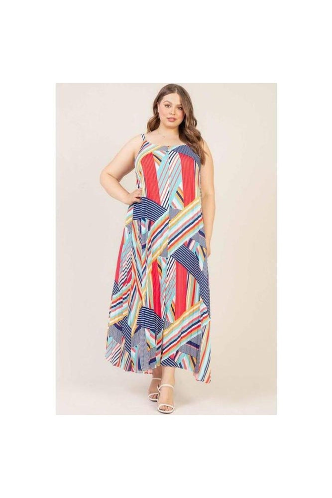 Nessa Multi Stripe Maxi Dress