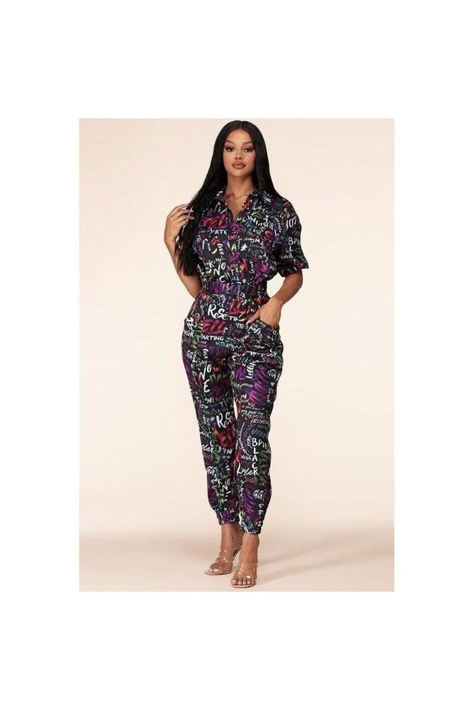 StreetStyle Graphic Jumpsuit