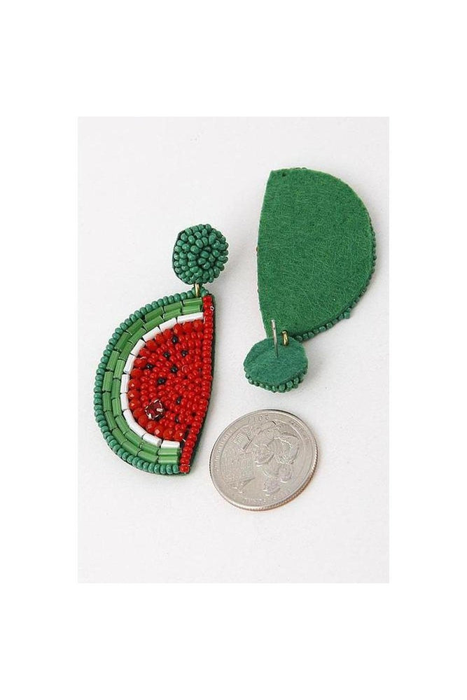 Watermelon Beaded Earrings