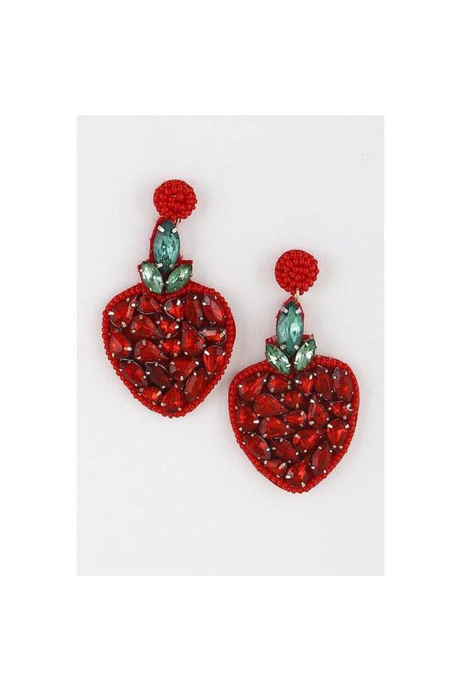 Strawberry Rhinestone Earrings