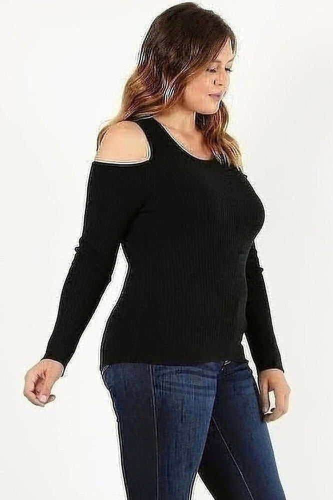 Curvy Carmen Cold Shoulder
