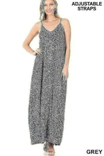 Animal Print Cami Maxi Dress
