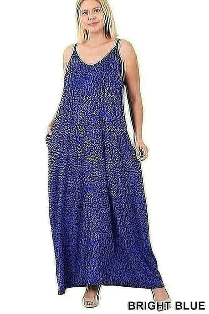 Curvy Animal Print Maxi Dress