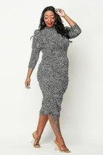 Zina GreenLeopard Dress