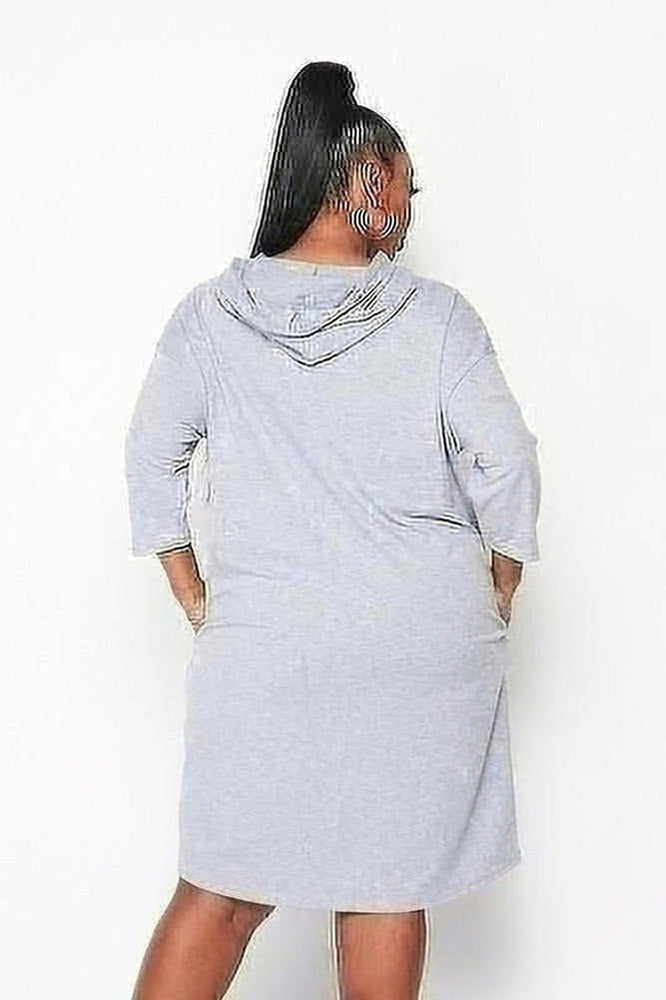 Curvy Fashion Runway Hoodie Dress