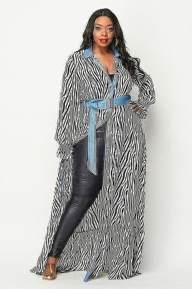 Zebra Print Parisse Maxi Dress