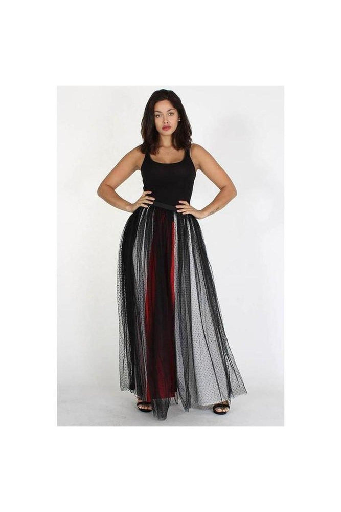 In The Middle Tulle Maxi Skirt