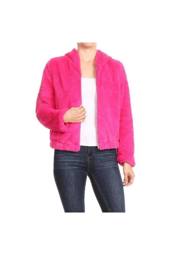 Pink Lady Faux Fur Jacket
