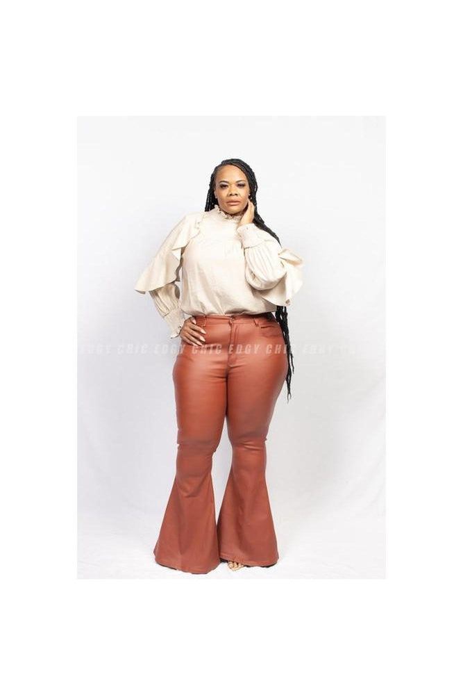 Teyana Leather Like Bell Bottoms