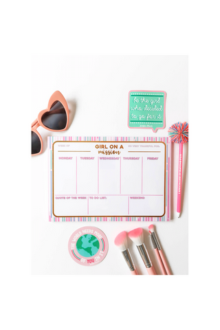 Girl on a Mission Weekly Desk Calendar