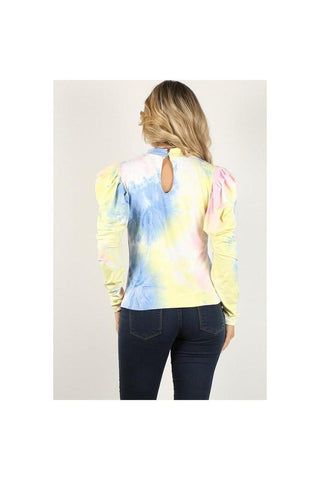 Mona Tye Dye Puff Sleeve Top
