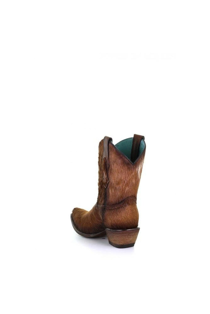 Calf Hair Concho Ankle Boots