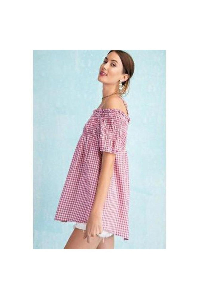 Gingham Days Baby Doll Top