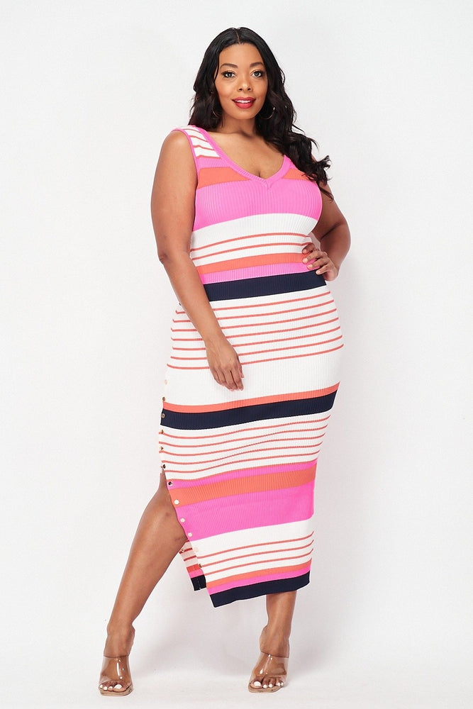 Kia Striped Maxi Dress