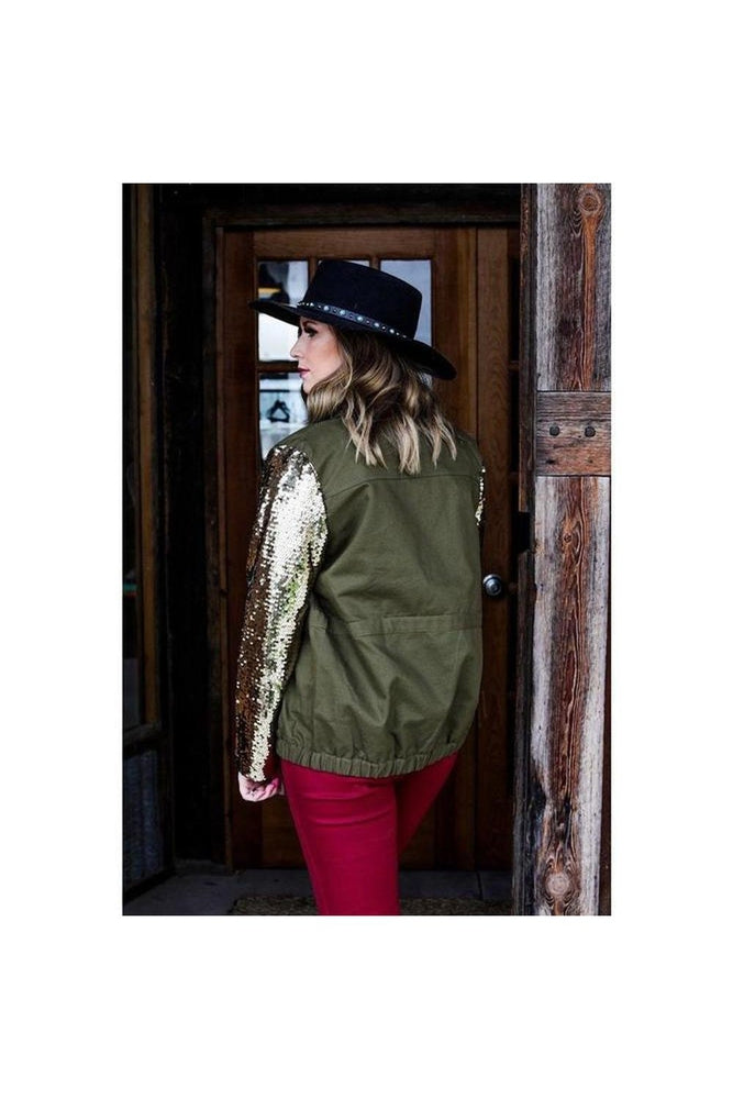 Rosey Sequin Sleeve Jacket