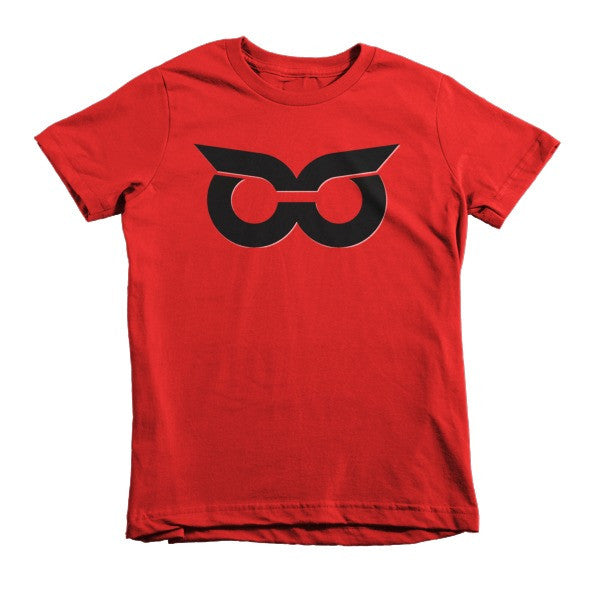 Shady Owl Icon Short Sleeve Kids T-Shirt Red