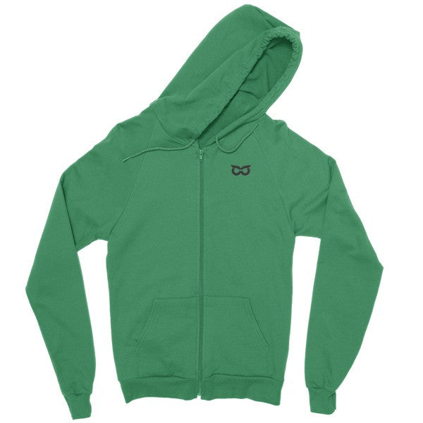 Shady Owl Zip Hoodie Kelly Green