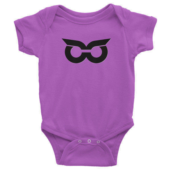 Shady Owl Icon Infant Organic Short Sleeve One-Piece Ultraviolet