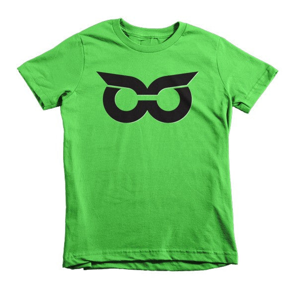 Shady Owl Icon Short Sleeve Kids T-Shirt Grass Green