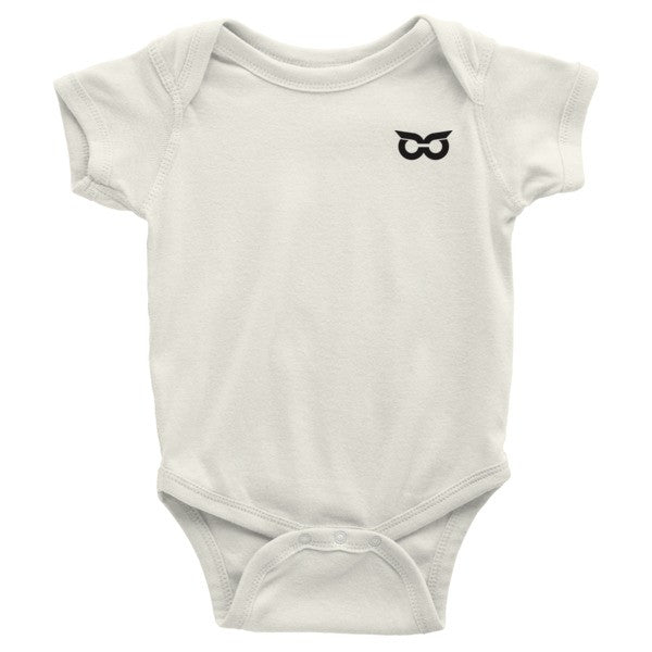 Shady Owl Infant Organic Short Sleeve One-Piece Natural White