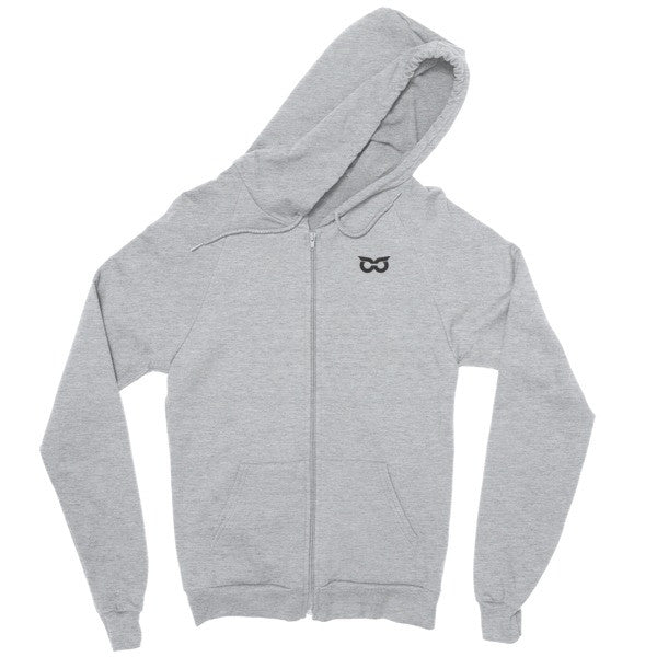 Shady Owl Zip Hoodie Heather Grey