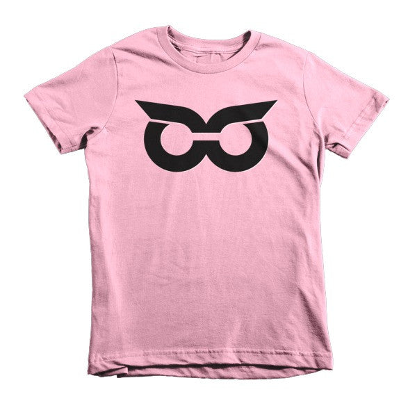 Shady Owl Icon Short Sleeve Kids T-Shirt Pink