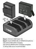 Wasabi Power Battery Set for GoPro Hero 4 - ProPlus