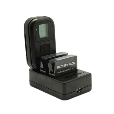 GoPro 3 in1 Charger for Hero 5 and 4 Battery and GoPro Remote - ProPlus