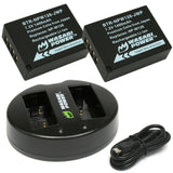 Wasabi Power Battery (2-Pack) and Dual Charger for Fujifilm NP-W126 - ProPlus