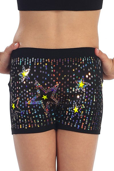Scattered Sequin Star Boy Shorts