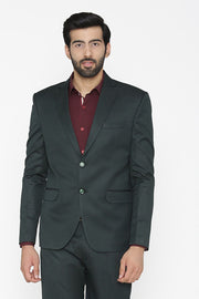 Polyester Cotton Green Blazer