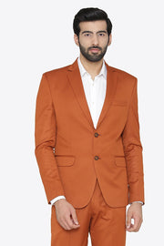 Polyester Cotton Orange Blazer