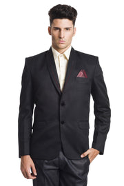Polyester Cotton Black Blazer