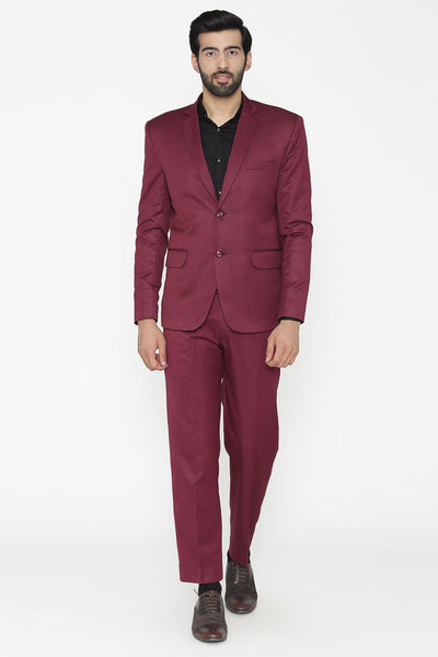 Polyester Cotton Purple Suit
