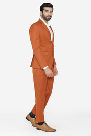Polyester Cotton Orange Suit