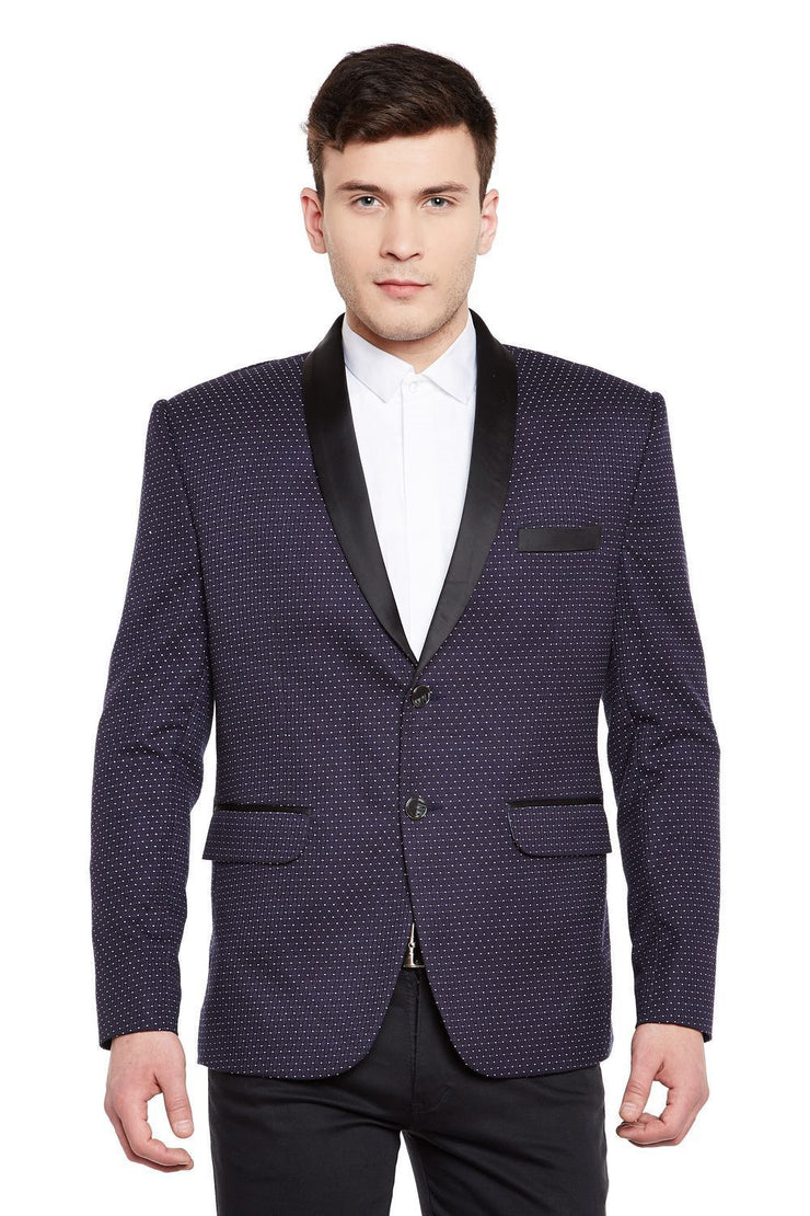Velvet and Imported Rayon Blue Tuxedo
