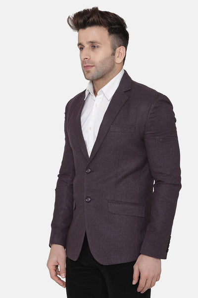 Wool Purple Blazer