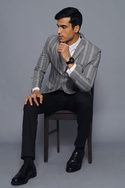 Cotton Silver Blazer