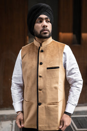 Velvet Brown Modi Nehru Jacket