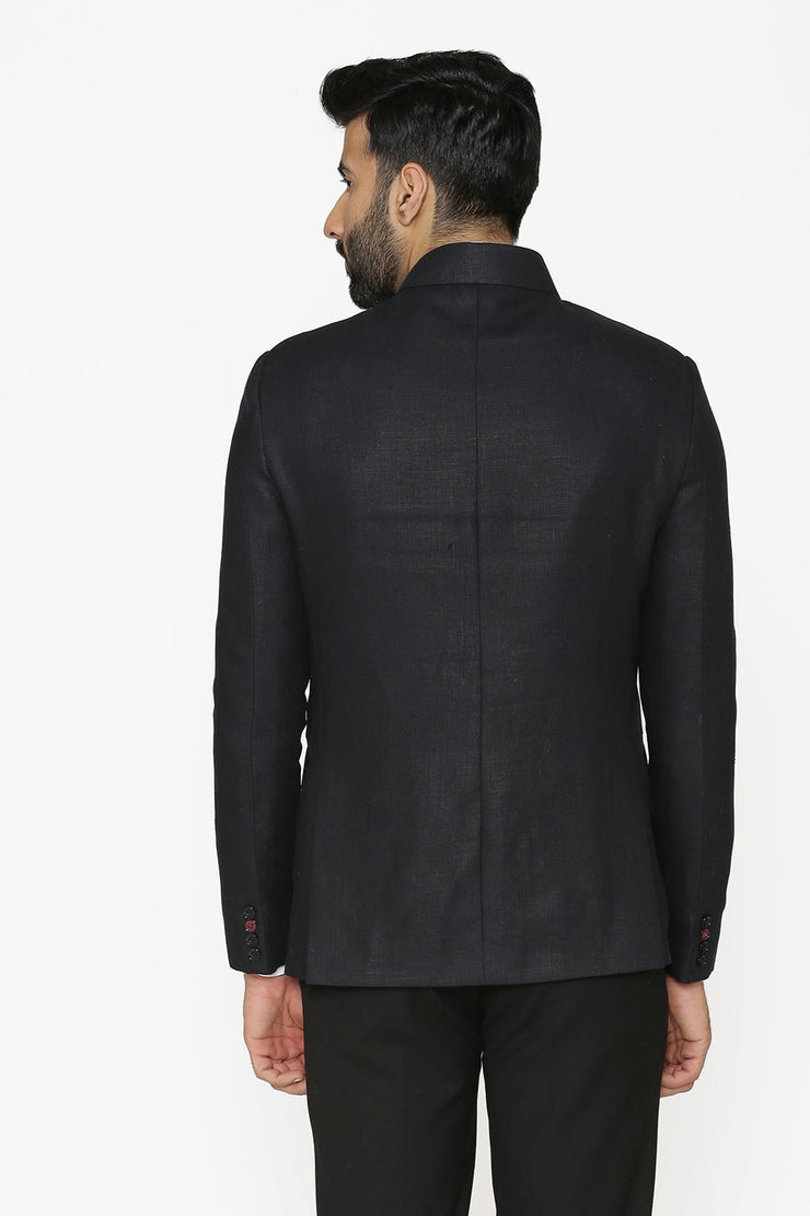 100% Linen Black Blazer Coat Jacket