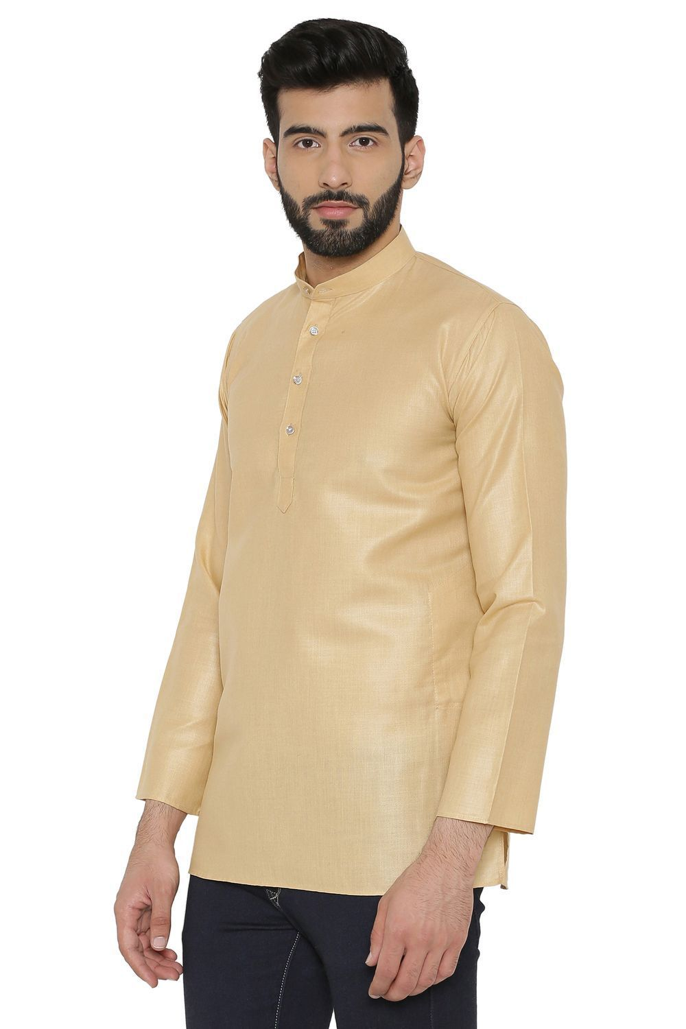 Cotton Silk Blend Kurtas - Beige