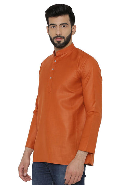 Cotton Silk Blend Red Kurta Shirt