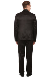 Poly Blend Black Tuxedo Suit