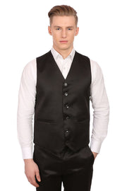 Poly Blend Black Tuxedo 3-Pc Suit