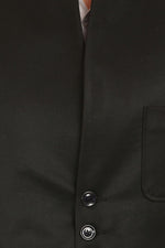 Poly Viscose Black Bandhgala