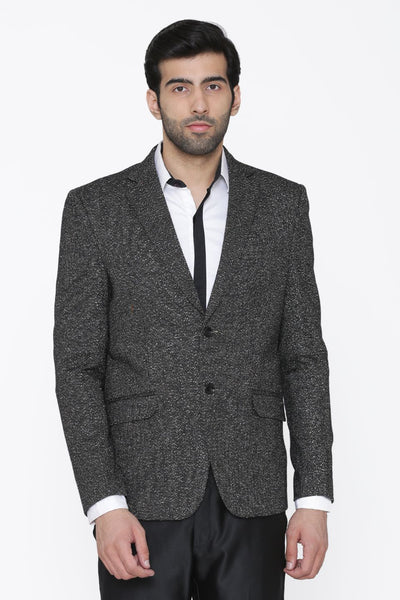 Tweed Wool Grey Blazer