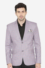 Polyester Cotton Purple  Blazer